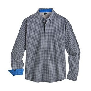 Men's Tonal Check 4-Way Stretch Eco-Woven Shirt