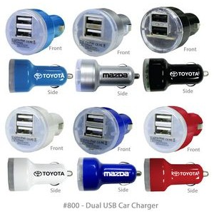 Superior 100% Safe USB Dual 2-Port Car Charger