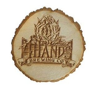"4"" Custom Laser Engraved Tree Slice Wood Coaster"