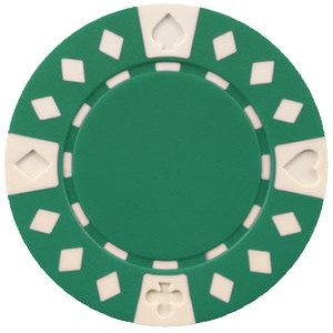 11.5 gram ABS Diamond Suited Poker Chips - Blank