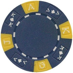 Closeout: 11.5 gram ABS Ace King tri color Blue poker chips - Blank